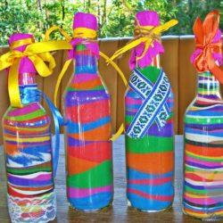 мастер-класс Картина в бутылке на детский праздник