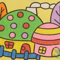 мастер-класс По песочным картинам для детей