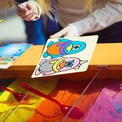 мастер-класс По песочным картинам на детский праздник