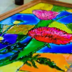 мастер-класс Витражная роспись для детей