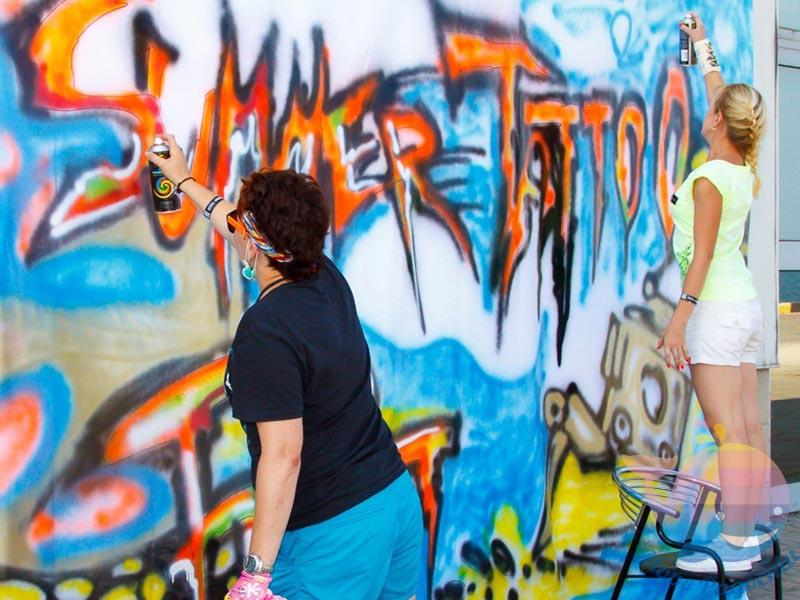 выездной мастер-класс Граффити