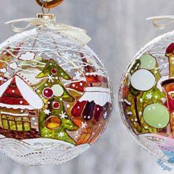 Новогодний мастер-класс по росписи шаров