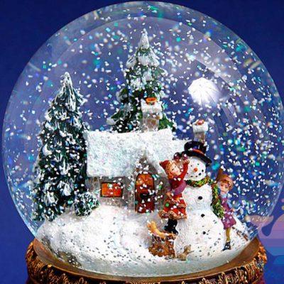 мастер-класс по снежным шарам на детский праздник