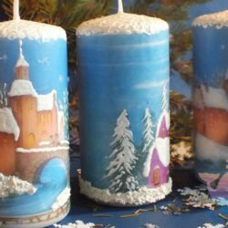 мастер-класс Декупаж свечей в Москве
