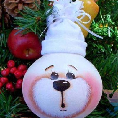 мастер-класс Новогодние лампочки на детский праздник