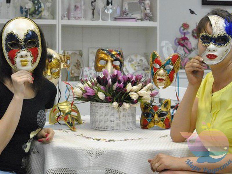 мастер-класс Новогодние маски на мероприятие
