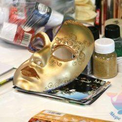 мастер-класс Новогодние маски на юбилей