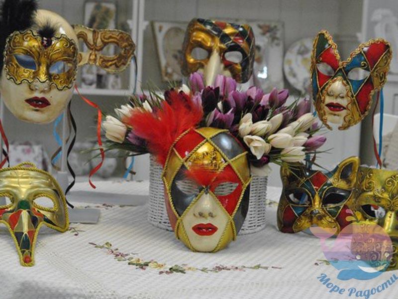 мастер-класс Новогодние маски на свадьбу