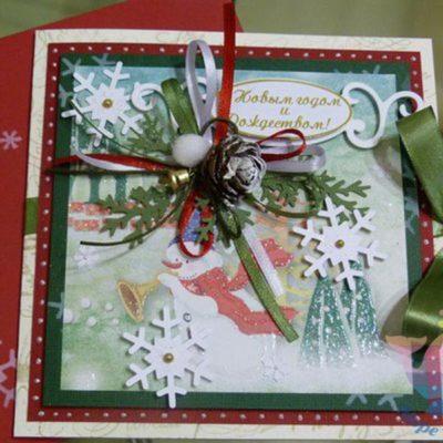 мастер-класс Новогодние открытки на детский праздник