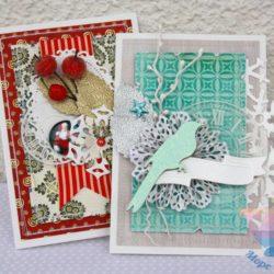 мастер-класс Новогодние открытки для детей