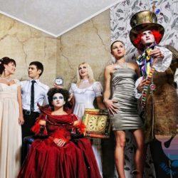 вечеринка Алиса в Зазеркалье в отеле, доме отдыха