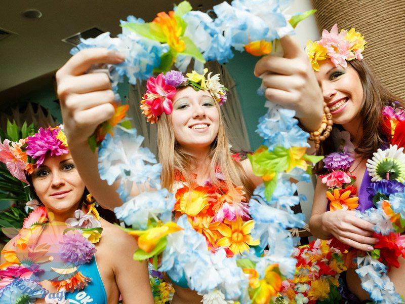 гавайская вечеринка на детский праздник
