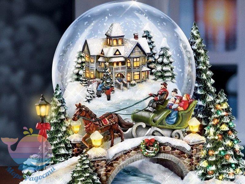 Новогодний мастер-класс по снежным шарам