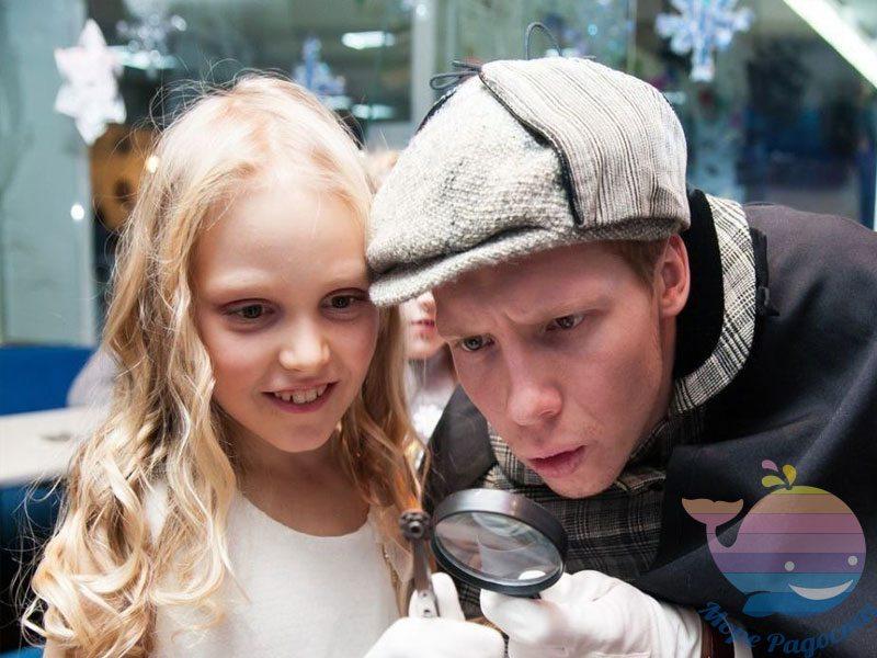 аниматор Шерлок и Ватсон в детский сад