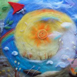 мастер-класс Картина из шерсти для детей