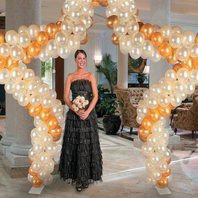 Оформление шарами на свадьбу, юбилей