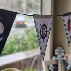 Бумажные гирлянды на день рождения