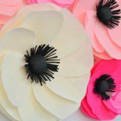 Бумажные цветы на вечеринку, банкет