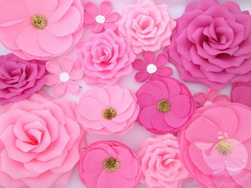 Бумажные цветы на мероприятие, торжество