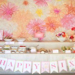 Бумажные цветы на день рождения