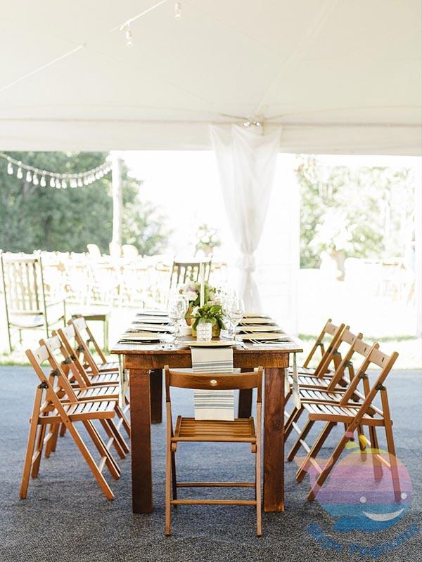 деревянный свадебный стол