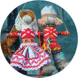 Русская игрушка из лоскутов