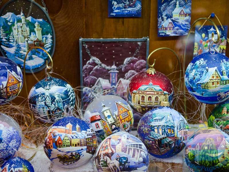 расписные новогодние шары